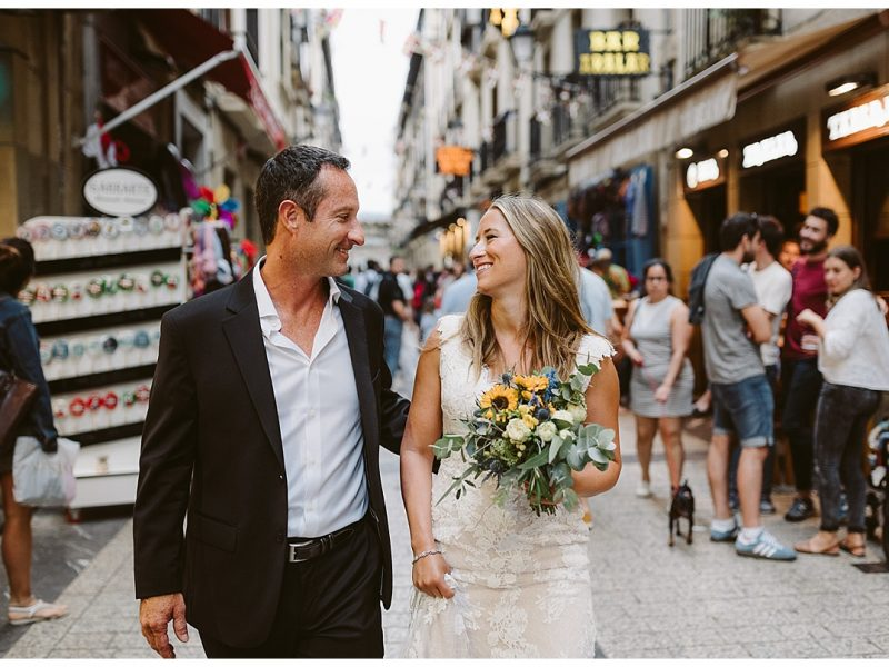 Tara and Brian's Elopement in the beautiful city of San Sebastian