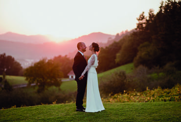 Fall wedding in a Basque winery