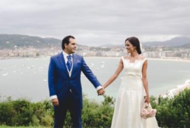 La romántica boda de Sandra y Samuel