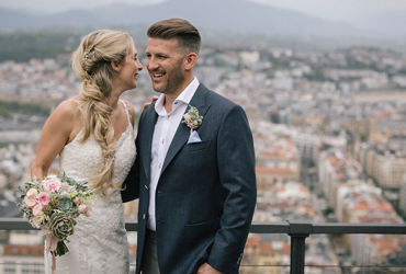 Summertime wedding in San Sebastian